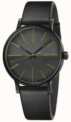 Calvin Klein Mens impulsionar índices de couro preto verde K7Y214CL