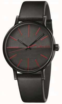 Calvin Klein Mens impulsionar índices de couro preto vermelho K7Y214CY