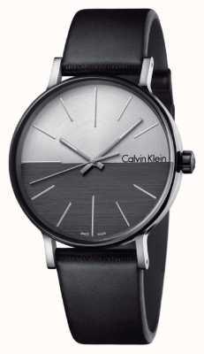 Calvin Klein Mens impulsionar couro preto dois tons de discagem K7Y21CCX