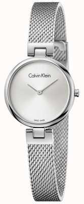 Calvin Klein Pulseira de malha pulseira de malha de aço inoxidável autêntica da mulher K8G23126