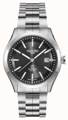 Roamer Rd100 automático | pulseira de aço inoxidável | mostrador preto 951660 41 55 90