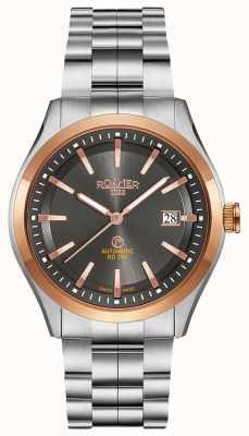 Roamer Rd100 automático | pulseira de aço inoxidável | mostrador preto 951660 49 05 90