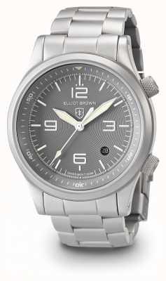 Elliot Brown Mens canford prata e pulseira de aço inoxidável cinza 202-018-B06