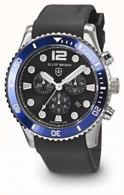 Elliot Brown Mens bloxworth pulseira de borracha preta azul e preta 929-012-R01