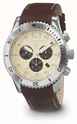 Elliot Brown Mens bloxworth creme e pulseira de couro marrom oleada 929-014-L18