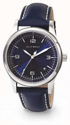 Elliot Brown Bracelete de couro oleada feminino kimmeridge azul sunray 405-003-L52
