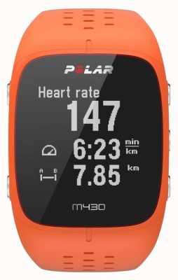 Polar Relógio desportivo em borracha laranja M430 90064410