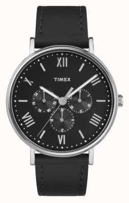 Timex Mens multifuncional sulview cronógrafo preto TW2R29000