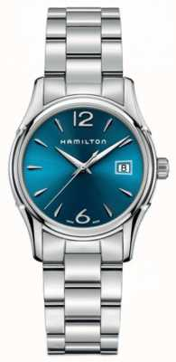 Hamilton Womans jazzmaster lady 34mm mostrador azul H32351145