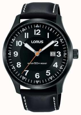 Lorus Mens urbano vestido pvd caixa preta / couro preto RH941HX9