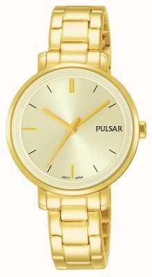 Pulsar Mulher de ouro banhado a pulseira de aço inoxidável pulseira de discagem PH8360X1