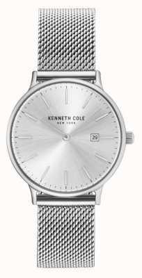 Kenneth Cole Mostrador prateado pulseira de malha de aço inoxidável da mulher KC15057007