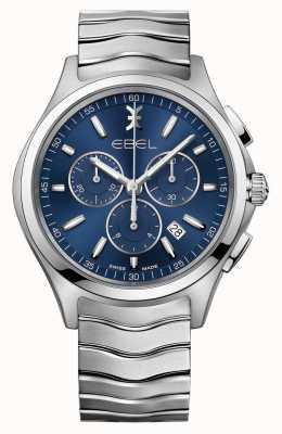 EBEL Relógio de cronógrafo com mostrador azul 1216344