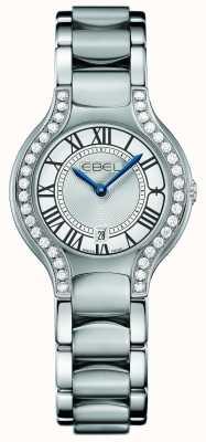 EBEL Womens beluga diamante de aço inoxidável 1216069