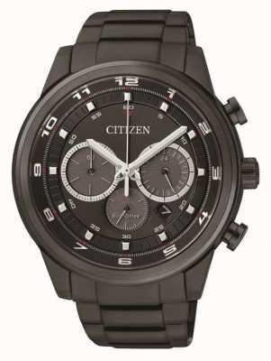 Citizen Mens eco-drive cronógrafo preto ip CA4035-57E