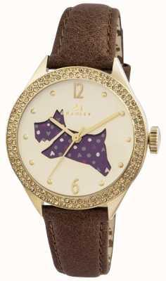 Radley A grande pulseira de couro marrom ao ar livre RY2210