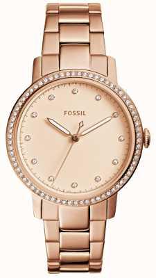 Fossil Womens neely subiu relógio de ouro ES4288