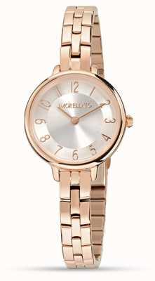 Morellato Womens petra pequeno relógio de ouro rosa R0153140510