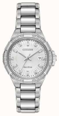 Citizen Conjunto de diamantes em aço inoxidável Riva eco-drive EW2460-56A