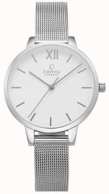 Obaku Relógio de malha de aço inoxidável das mulheres liv V209LXCIMC