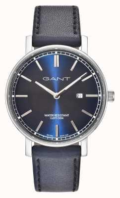 GANT Mens nashville pulseira de couro azul mostrador azul GT006002