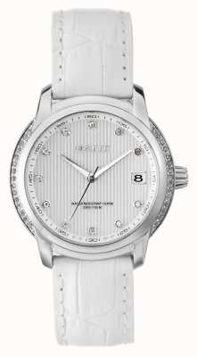 GANT Womens lynbrooke pulseira de couro branco mostrador branco W10714