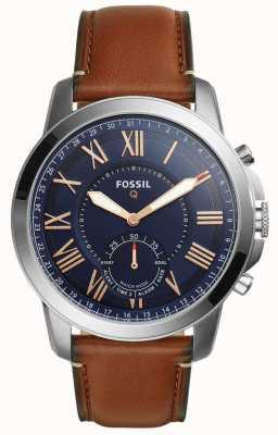Fossil Q conceder híbrido smartwatch couro marrom claro FTW1122