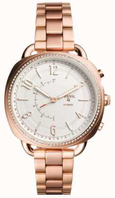 Fossil Q cúmplice híbrido smartwatch subiu tom de ouro FTW1208