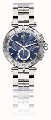 Michel Herbelin Mens newport cronógrafo pulseira de aço inoxidável mostrador azul 36696/B35