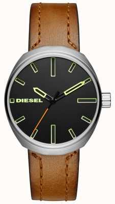 Diesel Correia de couro marrom klutch para homem DZ1831
