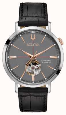 Bulova Cinza automático clássico para homem 98A187