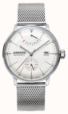 Junkers Mens bauhaus auto aço malha relógio 6060M-5