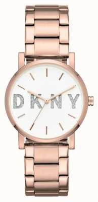 DKNY Womans soho rosa pulseira de tom de ouro NY2654