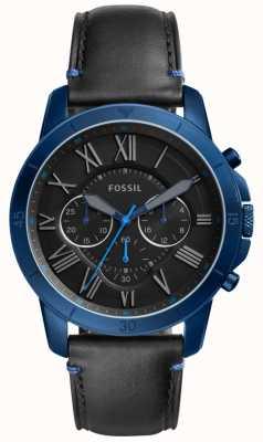 Fossil Mens concessão cronógrafo preto e azul FS5342
