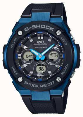 Casio Mens g-choque g-aço resistente relógio solar azul GST-W300G-1A2ER
