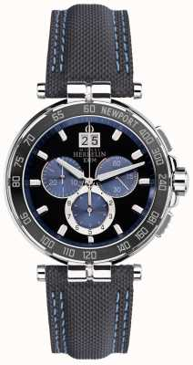 Michel Herbelin Mens newport yacht club, preto, azul 36656/AN65