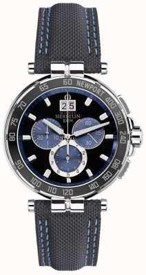 Michel Herbelin Mens newport yacht club, preto, azul 36656/AN65