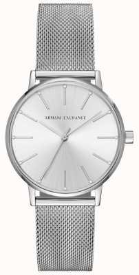 Armani Exchange Pulseira de malha de aço inoxidável da mulher AX5535