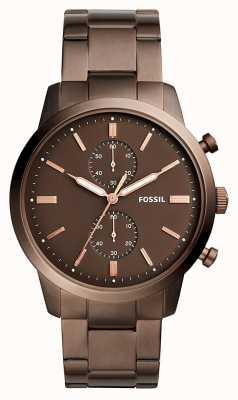 Fossil Mens townsman cronógrafo marrom FS5347
