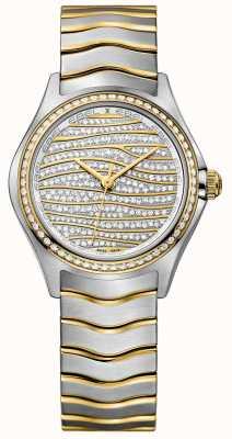EBEL Womens onda 58-diamante 18k relógio de ouro 1216285