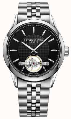 Raymond Weil Mens pulseira de aço automático freelancer 2780-ST-20001