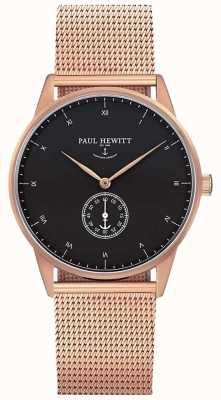 Paul Hewitt Relógio de assinatura unisex | cinta de malha de aço inoxidável | PH-M1-R-B-4M