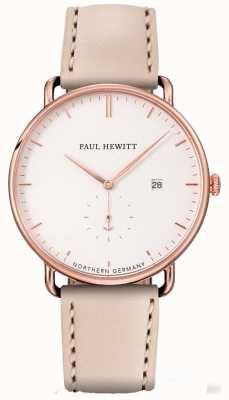 Paul Hewitt Womans o grande atlântico aumentou caixa de aço inoxidável ouro PH-TGA-R-W-22S