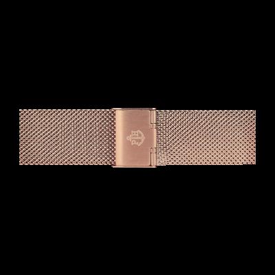 Paul Hewitt Pulseira de malha de aço inoxidável rosa ouro 176mm PH-M1-R-4S