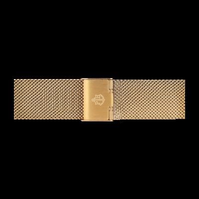 Paul Hewitt Cinta de malha de aço inoxidável de ouro tamanho m PH-M1-G-4M