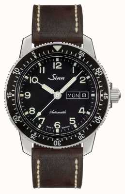 Sinn 104 st sa um clássico piloto assistir couro marrom escuro vintage 104.011-BL50202002007125401A