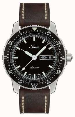 Sinn 104 st sa i clássico piloto assistir couro marrom escuro vintage 104.010-BL50202002007125401A
