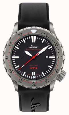 Sinn U212 ezm 16 temporizador de missão u-boat cinta de silicone preta de aço 212.040