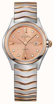 EBEL Womens onda dois tons rosa-ouro relógio 1216328