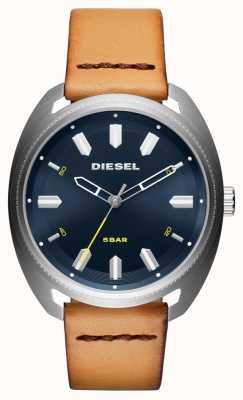 Diesel Mens fastbak relógio de couro bronzeado DZ1834